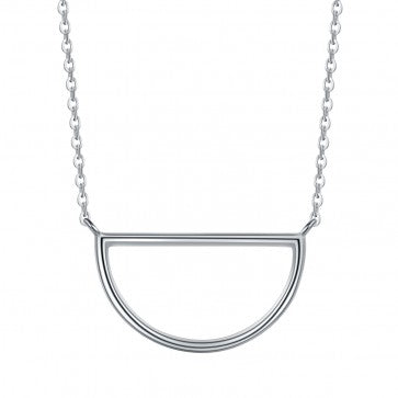 925 Sterling Silver Semicircle Necklace
