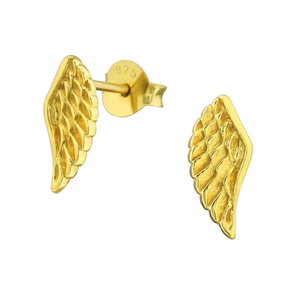 925 Silver Wing Studs