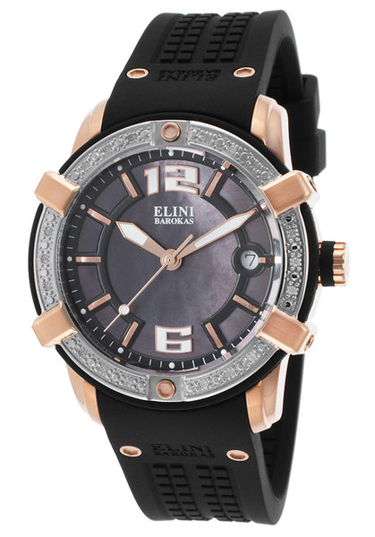 SPIRIT DIAMOND BLACK SILICONE AND MOTHER OF PEARL DIAL