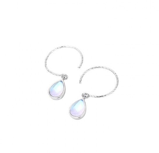 Unique Blue Waterdrop 925 Sterling Earrings