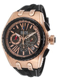 GENESIS VISION CHRONO BLACK SILICONE AND DIAL ROSE-TONE CASE