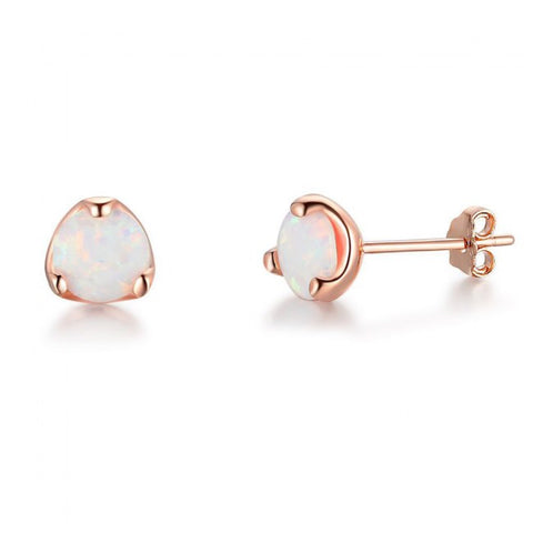 Opal 925 Sterling Stud Earrings