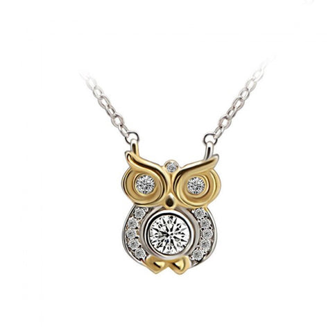 925 Solid Silver Owl Necklace