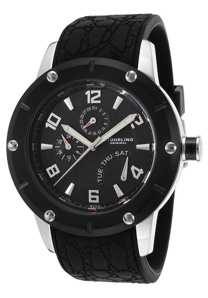 MEN'S SYMPHONY TORINO LISTA BLACK SILICONE AND TEXTURED DIAL