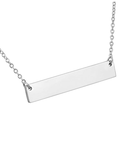Necklace Stainless Steel Bar Pendant