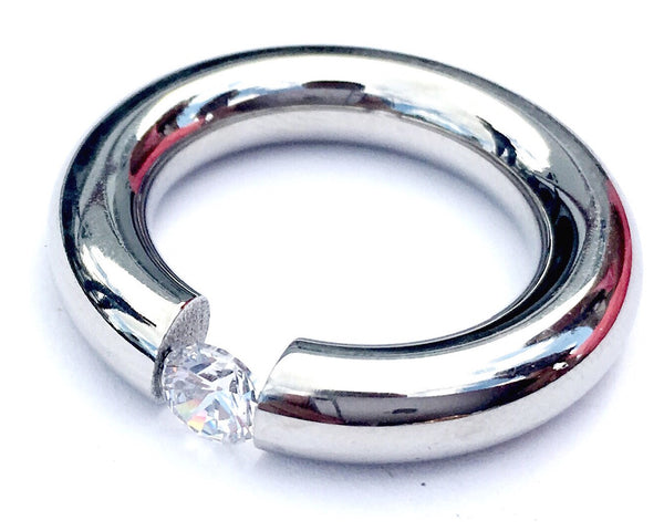 Steel Diamond Crystal Woman Ring