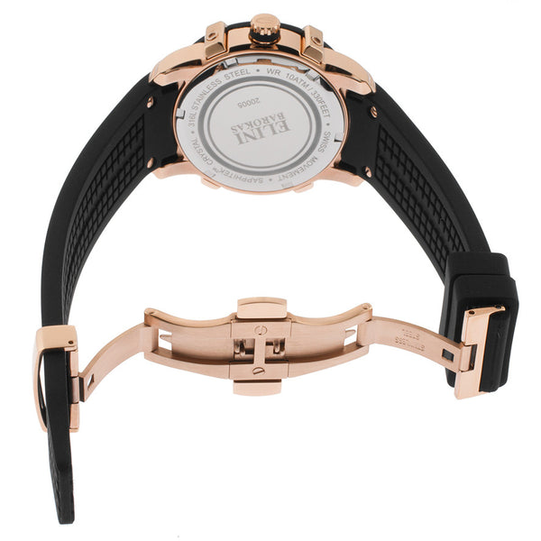 SPIRIT DIAMOND BLACK SILICONE MOP DIAL ROSE-TONE STEEL CASE
