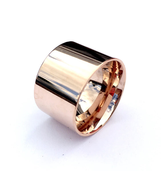 Rose Gold Simple Woman Ring