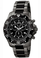 MEN'S SPECIALTY CHONOGRAPH TWO-TONE IP STEEL BLACK DIAL