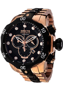 MEN'S VENOM RESERVE CHRONO TWO-TONE STAINLESS STEEL BLACK DIAL