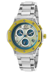 WOMAN'S MONACO LADY NEMO CHROMO SS MOTHER OF PEARL DIAL YELLOW ACCENT