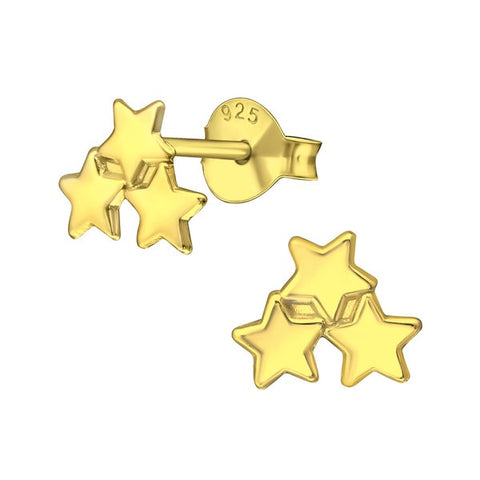 Silver Triple Star Stud