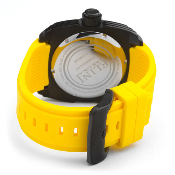 COMMANDER YELLOW SILICONE & BLACK TEXTURED DIAL