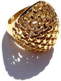 Gold Steel Woman Ring