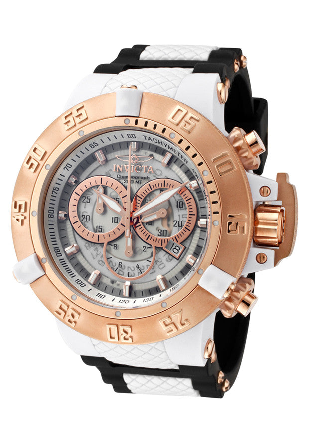 MEN'S SUBAQUA CHRONOGRAPH TRANSPARENT DIAL BLACK POLYURETHANE