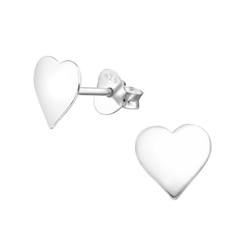 Wholesale 925 Silver Heart Ear Studs