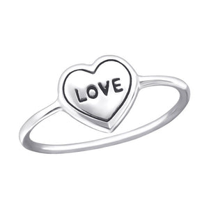 Wholesale Silver Love Heart Ring