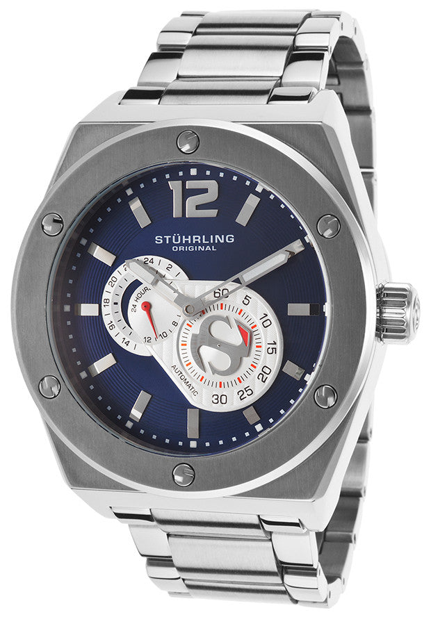 MEN'S SYMPHONY ESPRIT D'VIE AUTOMATIC STAINLESS STEEL DARK BLUE DIAL