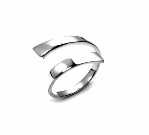 ELEGANT OPEN STYLE STERLING SILVER RING