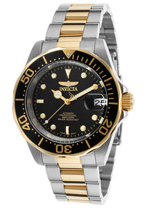 MEN'S PRO DIVER AUTOMATIC TWO-TONE STAINLESS STEEL BLACK DIAL