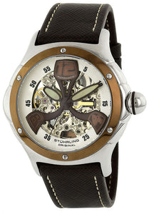 MEN'S SYMPHONY AUTOMATIC BROWN GENUINE LEATHER MULTI-COLOR DIAL
