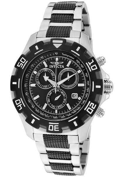 MEN'S SPECIALTY CHRONOGRAPH TWO-TONE STAINLESS STEEL BLACK DIAL
