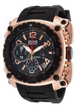 THE GENERAL CHRONO BLACK SILICONE AND DIAL ROSE-TONE CASE