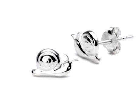 SILVER SNAILS STUD EARRINGS