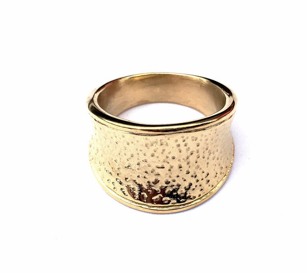 Gold Steel Small Point Woman Ring