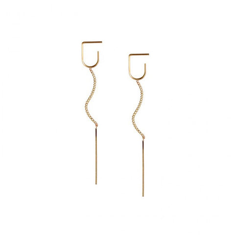 Minimalist Gold 925 Sterling Silver Earrings