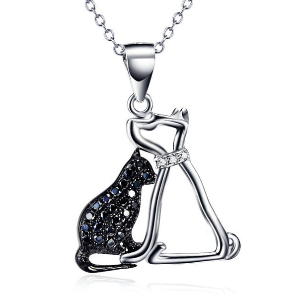 Pet Dog Cat Trendy 925 Sterling Silver Necklace