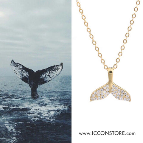 Whale Tail 925 Sterling Silver Necklace