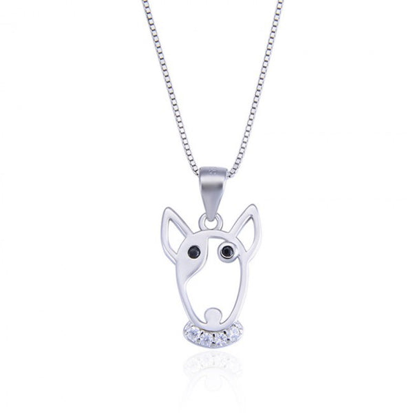 Dog Head 925 Sterling Silver Pendant