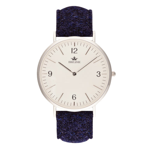 Harris Tweed Midnight Blue Sheringham Silver Watch