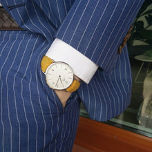 Load image into Gallery viewer, Harris Tweed  Yellow Bickley Watch
