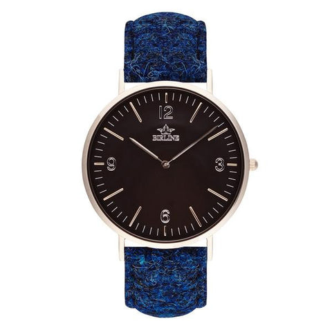Harris Tweed Blue Black High Beach Watch