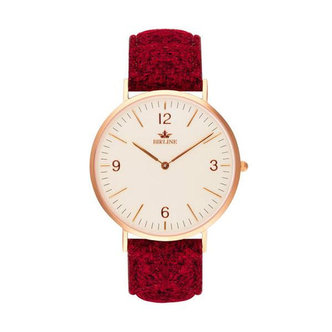 Oxshott | Rose Gold | 36mm - Harris Tweed Watch - Birline
