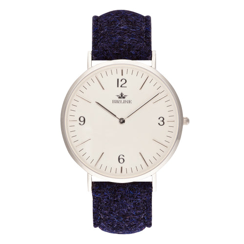 Sheringham | Silver - Harris Tweed Watch - Birline