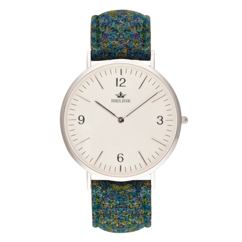 Stanmore | Silver - Harris Tweed Watch - Birline