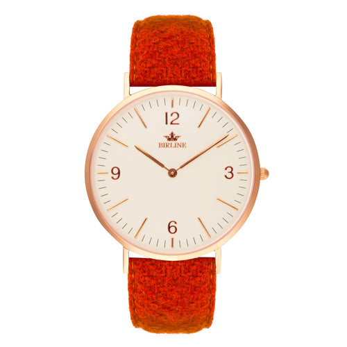 Harris Tweed Orange Weybridge Watch