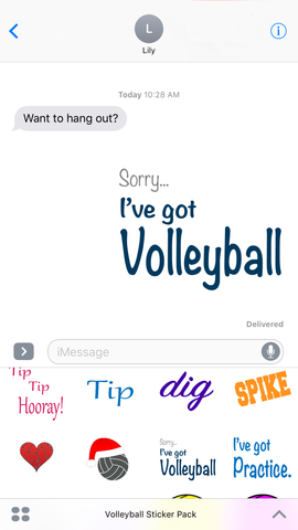 volleyball sticker app