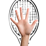 Tennis Racket Serving Hand