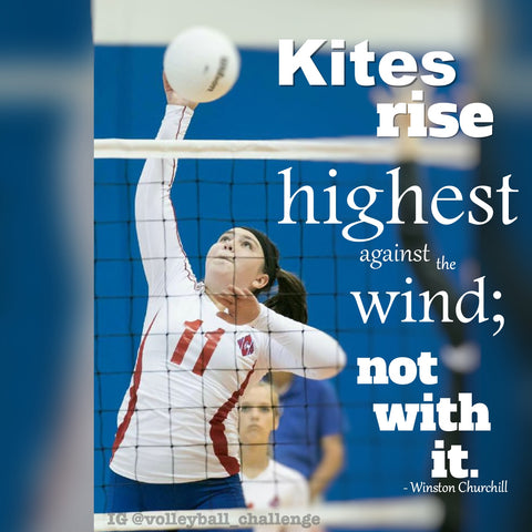 kites rise highest against the wind