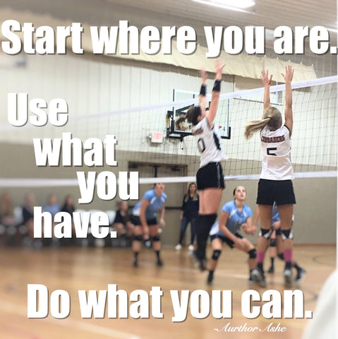 start where you are use what you have do what you can.
