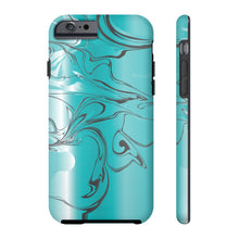 Teal Paint Swirl Phone Case