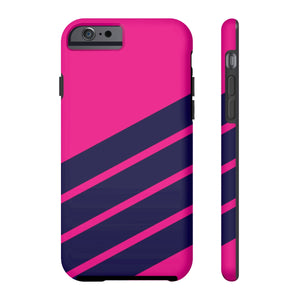 Pink and Navy Phone Case