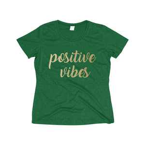 Positive Vibes Women's Heather Wicking Tee