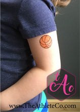 basketball temporary tattoo closeup