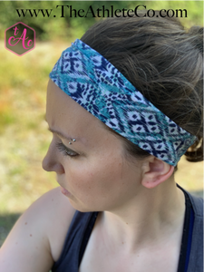 Teal and Navy Headband