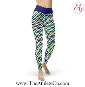 chevron athletic leggings